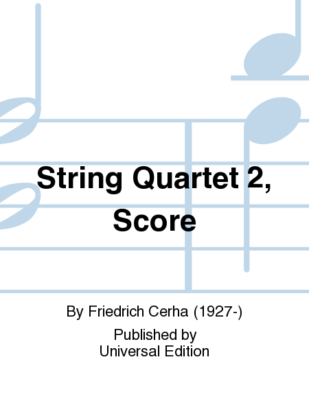 String Quartet 2, Score
