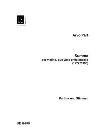 Summa, 2 Violins, 2 Violas & Cell