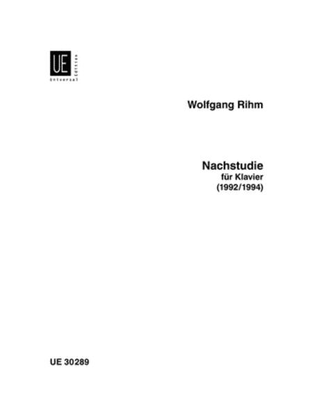 Nachstudie, Piano Solo