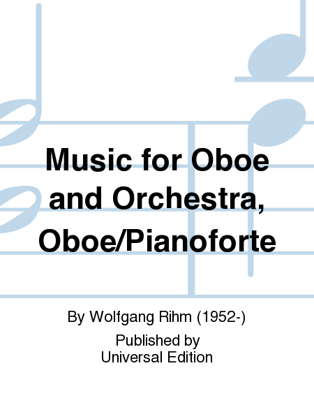 Music For Oboe And Orchestra, Oboe/Pianoforte