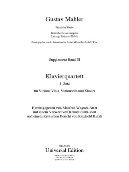 Piano Quartet, 1st Mvt, Score