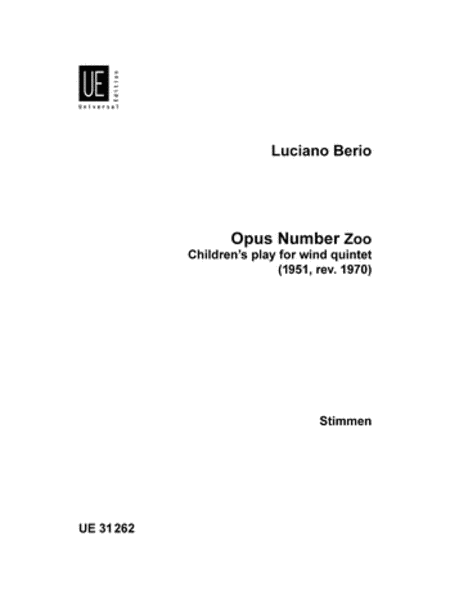 Opus Number Zoo, Woodwind Quintet Parts