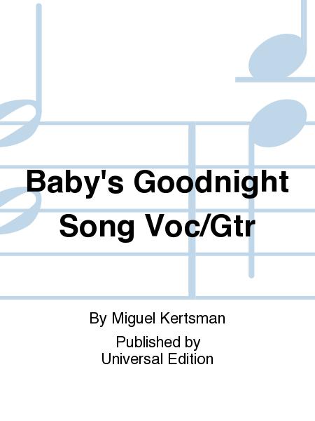 Baby's Goodnight Song Voc/Gtr