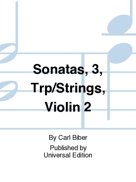 Sonatas, 3, Trp/Strings, Violin 2