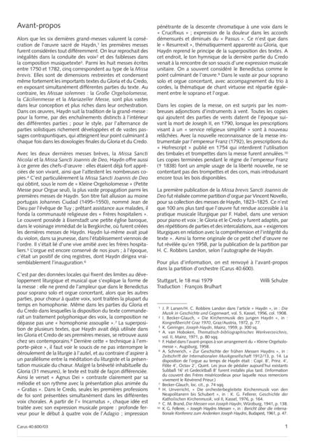 Missa brevis Sti. Joannis de Deo