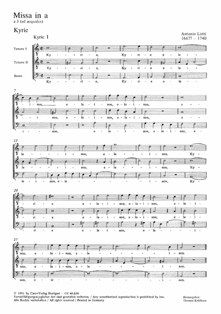 Mass in A minor