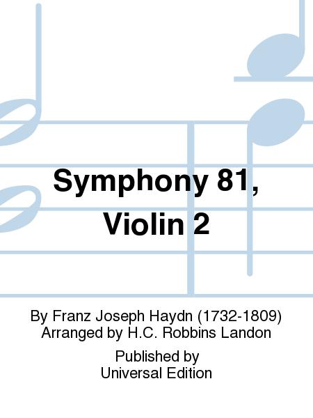 Symphony 81, Violin 2