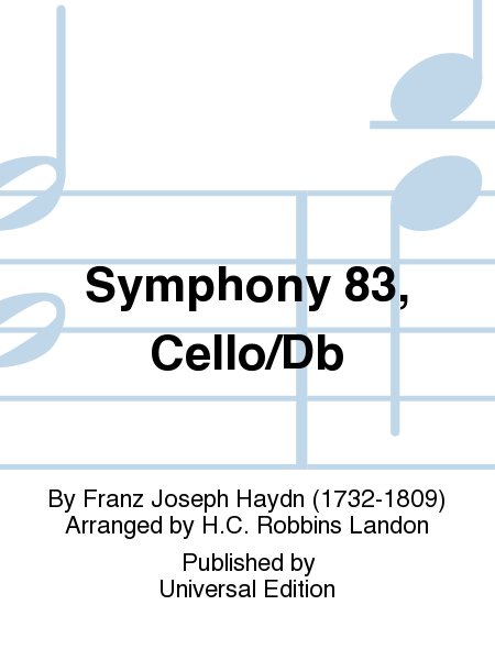 Symphony 83, Cello/Db