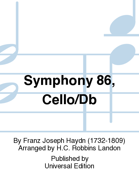 Symphony 86, Cello/Db