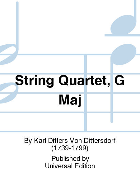 String Quartet, G Maj