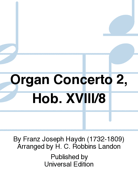 Organ Concerto 2, Hob. XVIII/8