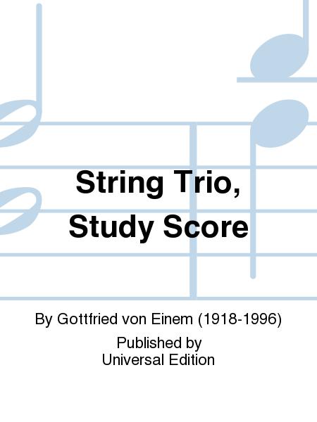 String Trio, Study Score