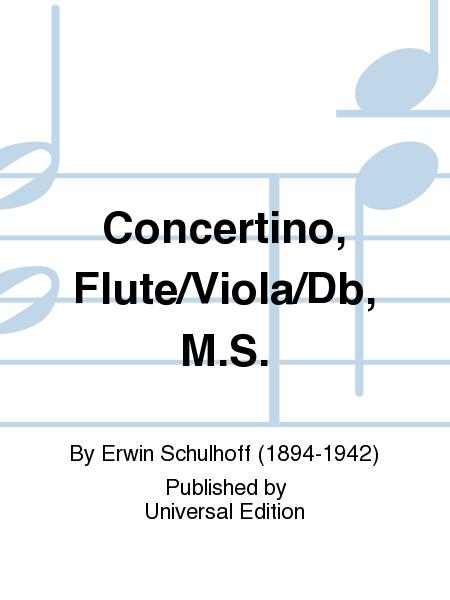Concertino, Flute/Viola/Db, M.S.