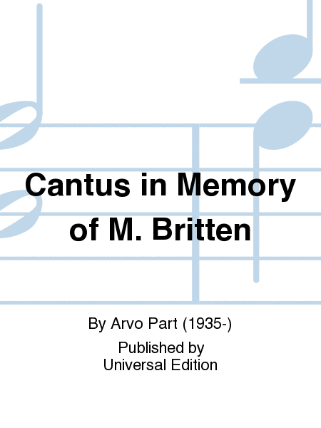 Cantus in Memory of M. Britten