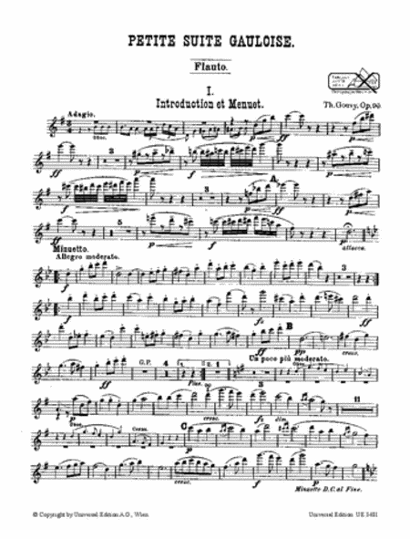 Petite Suite Gauloise, Op.90,