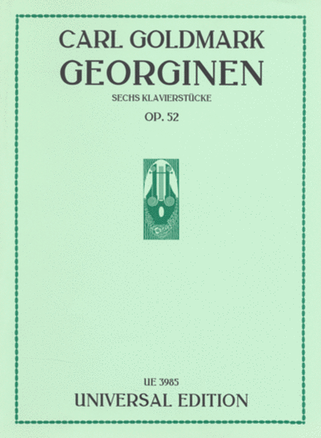 Georginen Sechs Klavierstucke