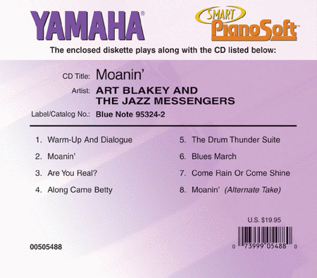 Art Blakey and the Jazz Messengers - Moanin' - Piano Software