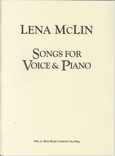 Songs For Voice & Piano - Medium/High Voice