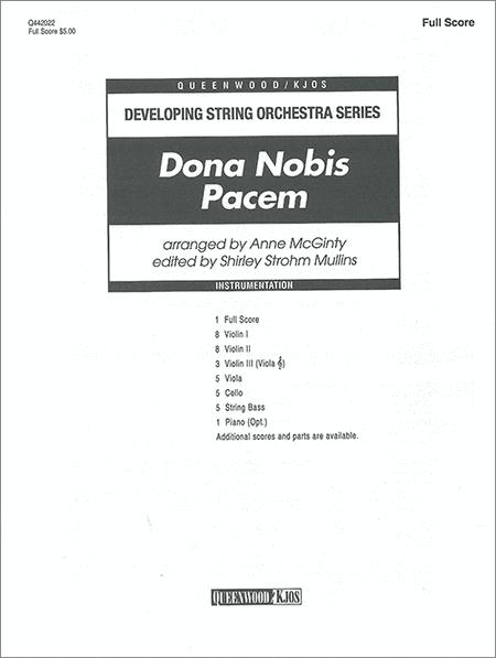 Dona Nobis Pacem - Score