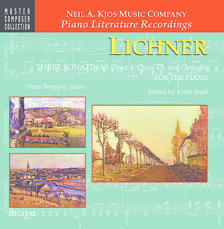 Lichner: Three Sonatinas, Op.4, Op.49, Op.66 (CD)