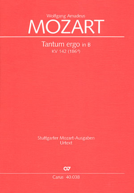 Tantum ergo in B flat major