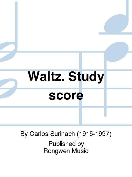 Waltz. Study score