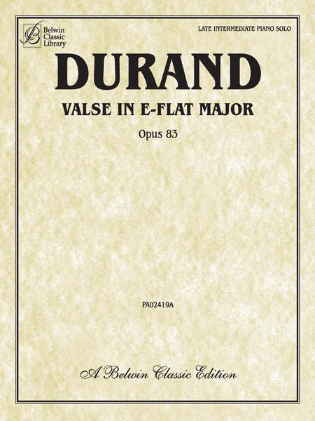 Valse in E-flat, Op. 83