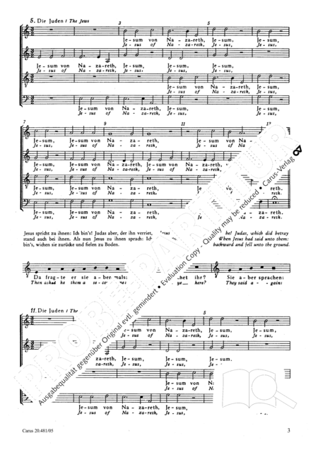 St. John Passion / The Passion of our Lord and Saviour Jesus Christ
