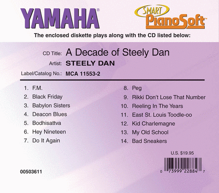 Steely Dan - A Decade of Steely Dan - Piano Software