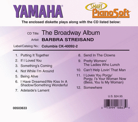Barbra Streisand - The Broadway Album - Piano Software