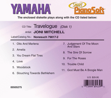 Joni Mitchell - Travelogue (2-Disk Set) - Piano Software