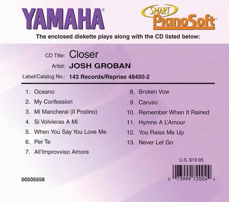 Josh Groban - Closer - Piano Software