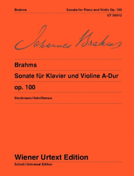 Sonata for Piano and Violin, A major Op. 100