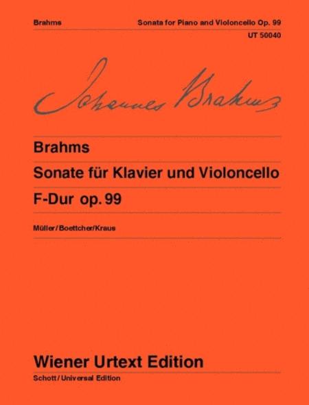 Sonata for piano and violoncello, F major, Op. 99