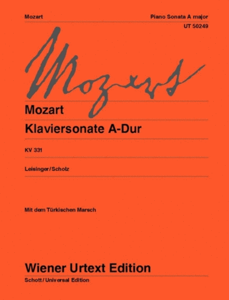 Piano Sonata in A major, K 331