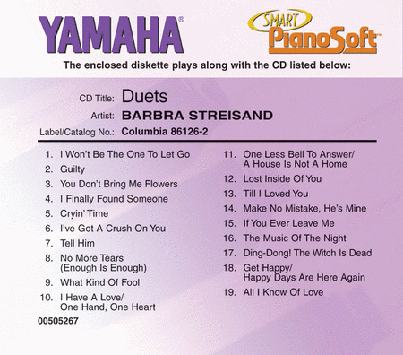 Barbra Streisand - Duets - Piano Software