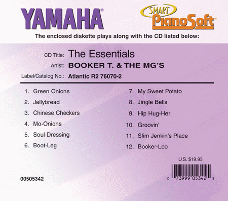 Booker T & The MG's - The Essentials - Piano Software