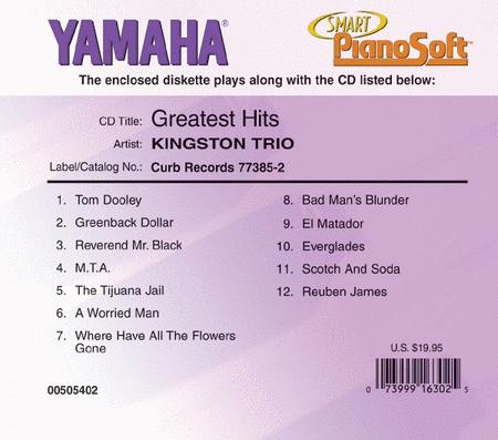 Kingston Trio - Greatest Hits - Piano Software
