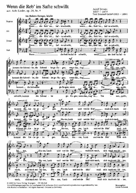 Jensen: Drei Chorlieder