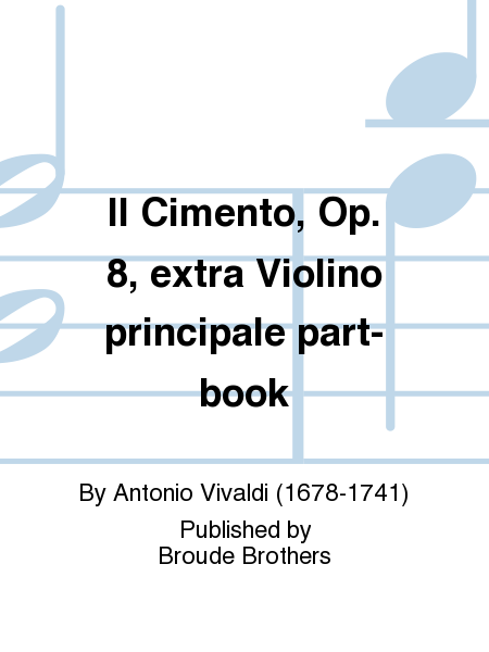 Il Cimento, Op. 8, extra Violino principale part-book