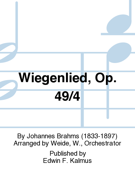 Wiegenlied, Op. 49/4