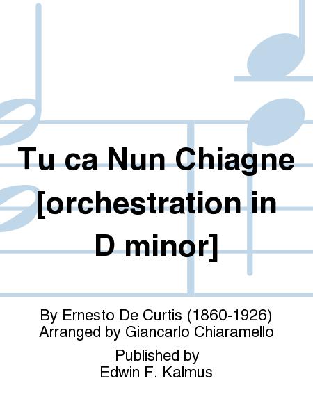 Tu ca Nun Chiagne [orchestration in D minor]