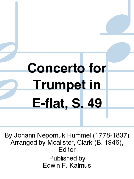 Concerto for Trumpet in E-flat, S. 49