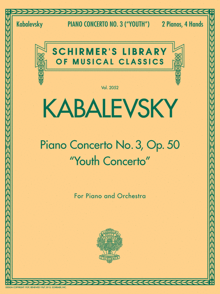Piano Concerto No. 3, Op. 50 (Youth Concerto)