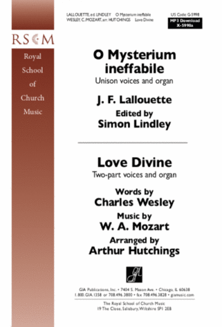O Mysterium ineffabile / Love Divine