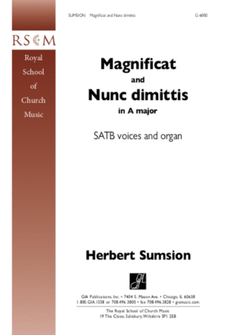 Magnificat and Nunc Dimittis in A Major