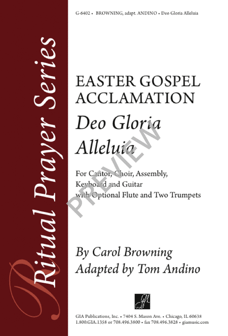 Deo Gloria Alleluia - Easter Gospel Acclamation