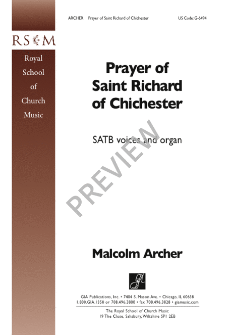 Prayer of Saint Richard of Chichester