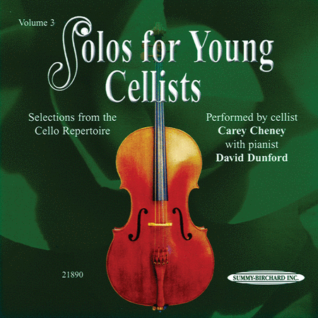 Solos for Young Cellists, Volume 3 (Audio CD)