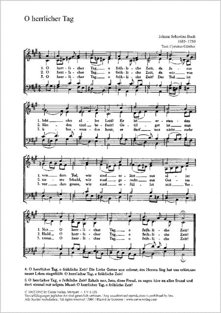 Bach: O herrlicher Tag; Schutz: Frohlockt mit Freud